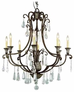 Trans Globe 3968 Crystal Fair 8-light Traditional Chandelier