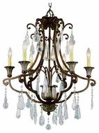 Trans Globe 3966 Crystal Fair 6-light Traditional Chandelier