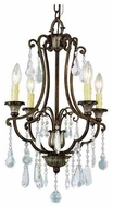Trans Globe 3964 Crystal Fair 4-light Traditional Chandelier