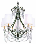Trans Globe 7875 Young and Hip Corner I 5-light Modern Style Chandelier