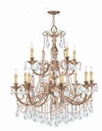 Crystorama 479-OB-CL-MWP Etta Large 2 Tier 32 Inch Diameter Clear Crystal Chandelier Light Fixture
