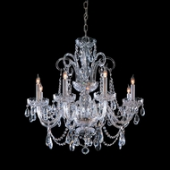 Crystorama 5008-CH-CL-MWP Traditional Crystal Polished Chrome 27 Inch Diameter 8 Candle Dining Chandelier