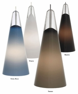 Tech Selina Hand-Blown Cone Glass 4 Inch Diameter Modern Mini Pendant Light Fixture