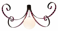Meyda Tiffany 130117 Metro Pizza 96 Inch Wide LED Strip Modern Chandelier Lamp