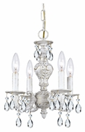 Crystorama 5024-AW-CL-MWP Sutton 13 Inch Diameter Antique White 4 Candle Mini Chandelier - Clear Crystal