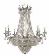 Crystorama 1488-HB-CL-MWP Majestic Large 46 Inch Diameter Crystal Historic Brass Finish Dining Chandelier