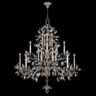 Fine Art Lamps 771240 Crystal Laurel Extra Tall 20-lamp Silver Chandelier Lamp