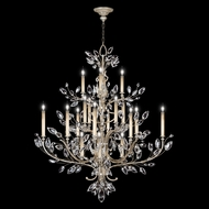 Fine Art Lamps 771140 Crystal Laurel Extra Large 2-lamp Crystal Candelabra Chandelier