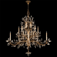 Fine Art Lamps 774540 Crystal Laurel Gold Extra Tall 20-light Candle Chandelier