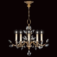 Fine Art Lamps 775840 Crystal Laurel Gold 5 Light Chandelier with Crystal Branches