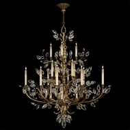 Fine Art Lamps 774440 Crystal Laurel Gold 20-light Extra Large Crystal Candle Chandelier Lighting