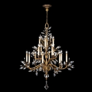 Fine Art Lamps 773740 Crystal Laurel Gold Extra Large 16-lamp Crystal Candelabra Chandelier Lighting
