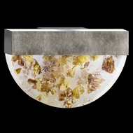 Fine Art Lamps 824550-31 Crystal Bakehouse 17 Inch Wide Silver Leaf Finish Neutral Crystal Wall Sconce
