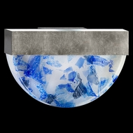 Fine Art Lamps 824550-32 Crystal Bakehouse Silver Leaf Blue Crystal Wall Sconce Lighting