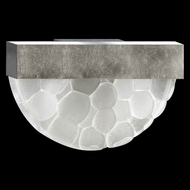 Fine Art Lamps 824550-34 Crystal Bakehouse Crystal River Stone 17 Inch Diameter Lamp Sconce - Silver Leaf