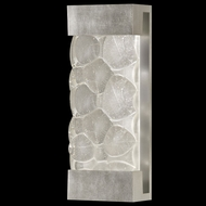 Fine Art Lamps 810950-34 Crystal Bakehouse Medium Contemporary Crystal River Stone Wall Lighting - Silver Leaf