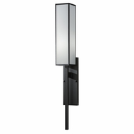 Fine Art Lamps 753950-6GU Black & White Story Black Satin Lacquer Finish Contemporary Sconce Lighting