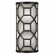 Fine Art Lamps 816850 Black & White Story Large 17 Inch Tall Contemporary Wall Sconce Light