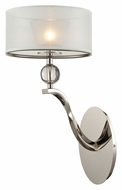 ELK 31290/1 Corisande Modern 17 Inch Tall Wall Light Sconce - Polished Nickel