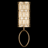 Fine Art Lamps 787450-2 Allegretto Gold Rectangular Lattice Wall Mounted Lamp
