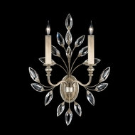 Fine Art Lamps 752350 Crystal Laurel 2-lamp Silver Crystal Candle Sconce Lighting