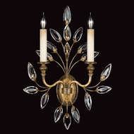 Fine Art Lamps 775250 Crystal Laurel Gold 2-light Crystal Candle Sconce