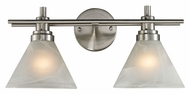 ELK 11401/2 Pemberton 18 Inch Wide Transitional Brushed Nickel Bathroom Sconce - 2 Lamps