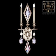 Fine Art Lamps 718150-3 Encased Gems 2-light Bronze Candle Wall Sconce with Clear Crystals