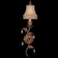 Fine Art Lamps 408050 Pastiche Rustic Sconce with Crystal Drops