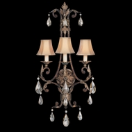 Fine Art Lamps 227150 Stile Bellagio 3-lamp Crystal Wall Lamp Sconce