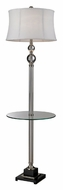 Dimond D2310 Corvallis 67 Inch Tall Polished Nickel Floor Lamp With Tray