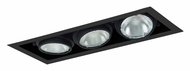 Jesco MYP30-3BB Adjustable Yoke Black 3 Lamp 21 Inch Long Recessed Light Fixture