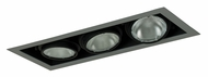 Jesco MYP30-3SB Adjustable Yoke Silver/Black 21 Inch Long Recessed Lighting - 3 Lamps