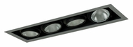 Jesco MYP30-4SB Adjustable Yoke 26 Inch Long New Construction Silver/Black Recessed Lighting