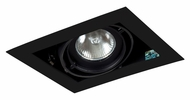 Jesco MGP20-1BB Double Gimbal New Construction Black Finish Recessed Light