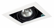 Jesco MGP20-1WB Double Gimbal Black/White 7 Inch Long New Construction Recessed Light Fixture