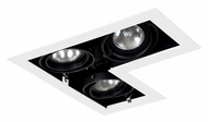 Jesco MGP20-3LWB Double Gimbal 3 Lamp New Construction L-Corner Recessed Lighting Fixture