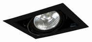 Jesco MGP30-1BB Double Gimbal 8 Inch Wide New Construction Recessed Light Fixture - Black