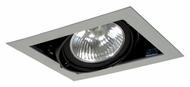 Jesco MGP30-1SB Double Gimbal Black/Silver 8 Inch Wide PAR30 Recessed Lighting