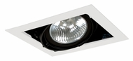 Jesco MGP30-1WB Double Gimbal New Construction Black/White Recessed Light - 8 Inches Wide