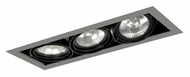 Jesco MGP30-3SB Double Gimbal New Construction 3 Lamp Linear Recessed Light - 20 Inches Long