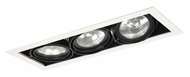 Jesco MGP30-3WB Double Gimbal 20 Inch Long Black/White Finish 3 Lamp Recessed Light Fixture