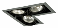 Jesco MGP30-3LSB Double Gimbal L-Corner New Construction 3 Lamp Silver/Black Recessed Light