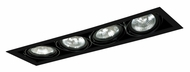 Jesco MGP30-4BB Double Gimbal Black 4 Lamp Recessed Lighting Fixture - New Construction