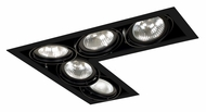 Jesco MGP30-5LBB Double Gimbal 5 Lamp L-Corner PAR30 Black Recessed Light