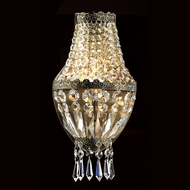 Worldwide W23086AB6 Metropolitan Antique Bronze Finish Crystal Sconce Lighting - 12 Inches Tall