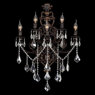 Worldwide W23318F19 Versailles 19 Inch Wide 5 Candle Wall Light Sconce - Flemish Brass