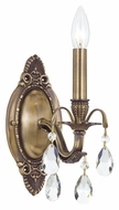Crystorama 5561-AB-CL-MWP Dawson Clear Crystal Antique Brass Candle Wall Lighting Fixture