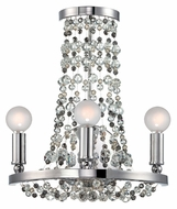 Crystorama 1542-CH-MWP Channing 12 Inch Diameter Polished Chrome 3 Lamp Crystal Wall Light Sconce