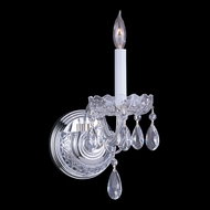 Crystorama 1031-CH-CL-MWP Traditional Crystal 9 Inch Tall Candle Sconce Lighting - Polished Chrome